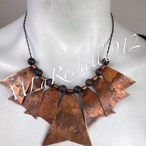 Jewelry - Rare! Tin tribal boho necklace